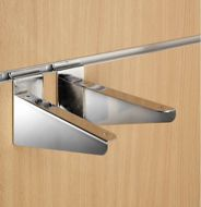 Slatwall Wooden Shelf Brackets (Pair)