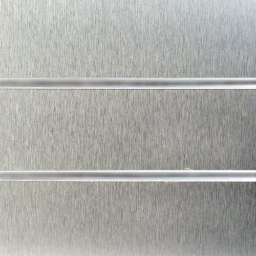 8x4 Brushed Aluminium Slatwall Panels