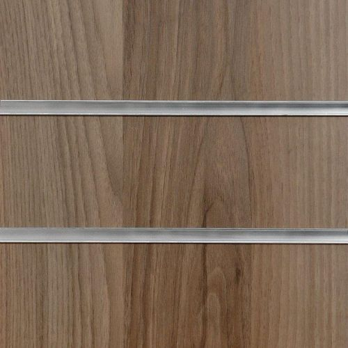 8x4 Light Walnut Slatwall Panels