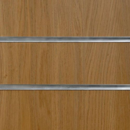 75mm Slot - Oak Slatwall Panel