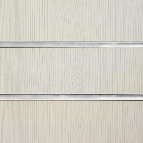50mm Slot-Pino White Slatwall Panel