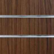 75mm Slot -Walnut Slatwall Panel