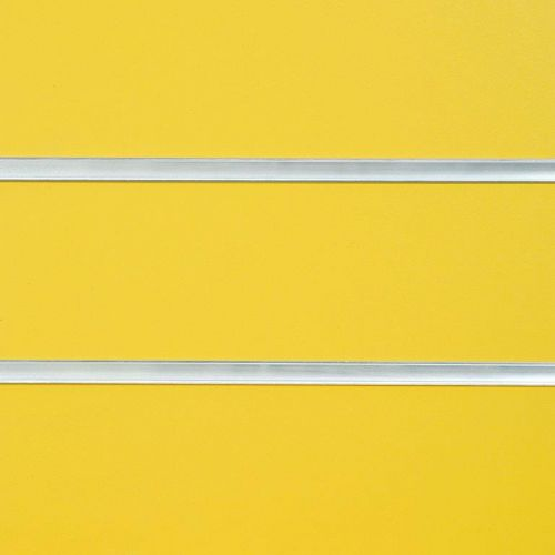 8x4 Yellow Slatwall with Inserts