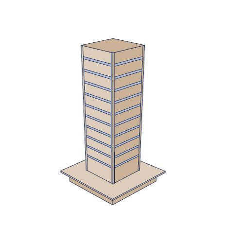 Slatwall 300 Tower Gondola Display