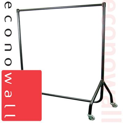 Black Heavy Duty Straight Garment Clothes Rail - 5ft Wide
