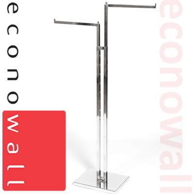 2 Arm Garment Clothes Rail With Straight Arms
