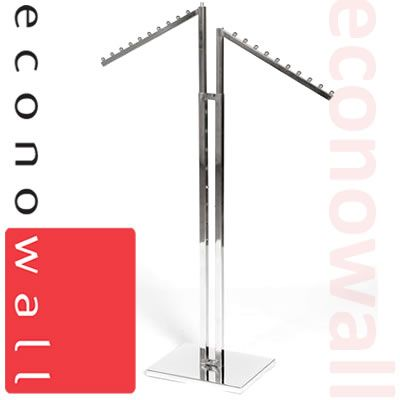 2 Arm Garment Clothes Rail With Waterfall Arms
