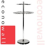 Revolving Double Tier Display Rail For Ties & Belts