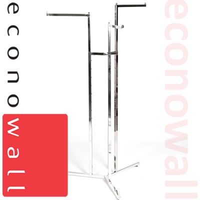 3 Arm Garment Clothes Rail With Straight Arms