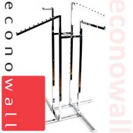 4 Arm Garment Clothes Rail With Mixed Arms