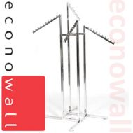 4 Arm Garment Clothes Rail With Waterfall Arms