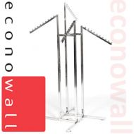 4 Arm High Capacity Garment Clothes Rail With Waterfall Arms