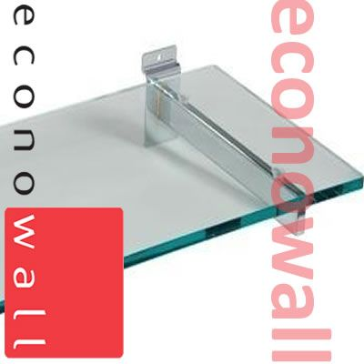 1000mm x 310mm Glass Shelves With Slatwall Brackets
