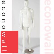 Kirk - Gloss White Male Shop Display Mannequin