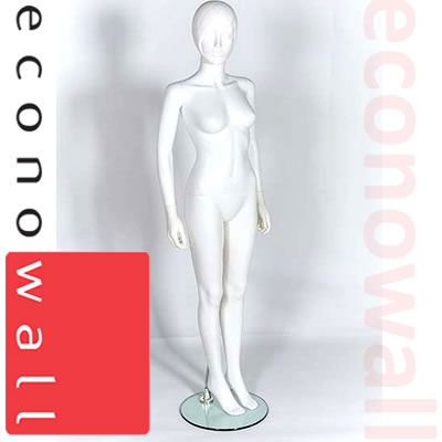 White Moulded Head Female Shop Display Mannequin