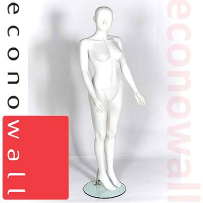 Female Shop Display Mannequin With Abstract Style Head - 1