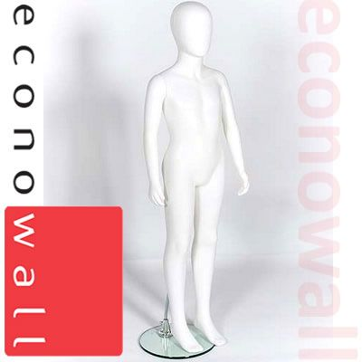Age 12-13 - Uni Sex Child Shop Display Mannequin With Egg Style Head