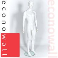 White Male Shop Display Mannequin With Moulded Style Head