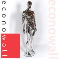 Chrome Male Mannequin With Egg Style Head