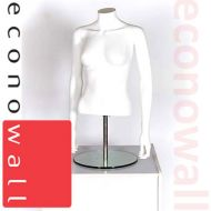 Female Torso Form Mannequin No Head With Arms White