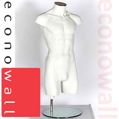 Male Torso Mannequin No Arms No Head White