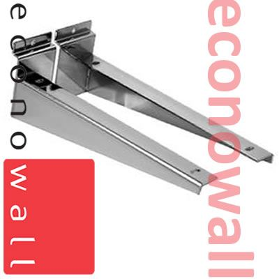 350mm (14 Inch) Slatwall Brackets For Wooden Shelves