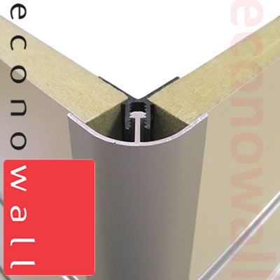 Aluminium Rounded External Corner Trim (Pack of 5)