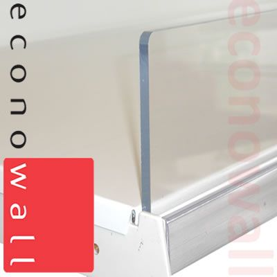 Acrylic Shelf Riser 75mm Exposed