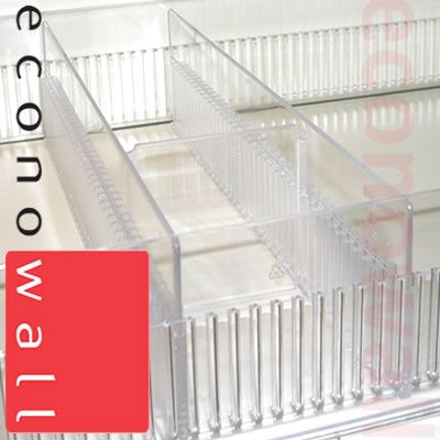 Plastic Toothed Shelf Divider 75mm Exposed