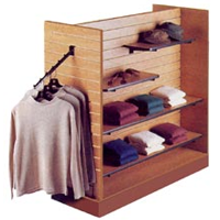 Shop Display Slatwall Gondola Units